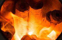 モミガライト燃焼イメージ