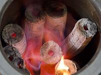 モミガライト燃焼中
